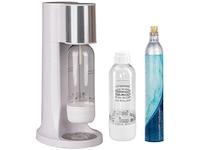 Levivo Wassersprudler Starter-Set inkl. 2 Sprudelflaschen & CO2-Zylinder 60 Liter, Weiß