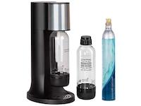 Levivo Wassersprudler Starter-Set inkl. 2 Sprudelflaschen & CO2-Zylinder 60 Liter, Schwarz