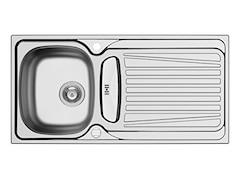 Pyramis Einbauspüle SPARTA - Edelstahl - Unterschränke ab 50 cm