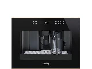 Smeg Einbau-Kaffeevollautomat Dolce Stil Novo 45cm schwarz-kupfer (CMS4601NR) -