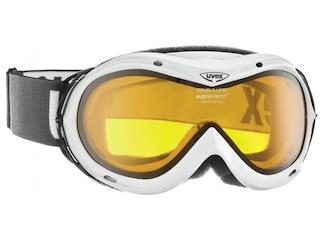 Uvex Skibrille Hurricane (0129 white, double lens/lasergold lite (S1)) -