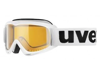 Uvex Skibrille Snowcat (1119 white, single lens, lasergold lite) -