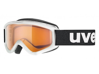Uvex Kinderskibrille Speedy Pro (1112 white, single lens, lasergold) -