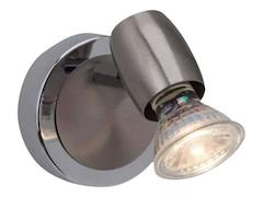 Brilliant LED-Wandleuchte GU10 2.5 W Wesley G54810/77 Eisen, Chrom