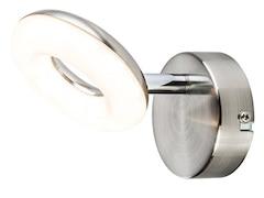 Nino Leuchten LED-Wandleuchte (1-flg.) DONUT, nickelfarben, weiß, A+