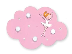 Waldi Leuchten Deckenleuchte Wolke Ballerina, rosa 4-flg., 4x9W/E14
