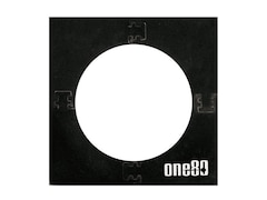 ONE80 Zubehör Square Knock-Down Dartboard Surround, schwarz, 2606