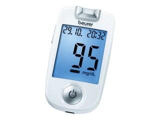 Beurer GL 40 Blutzuckermessgerät Messeinheit mg/dl -
