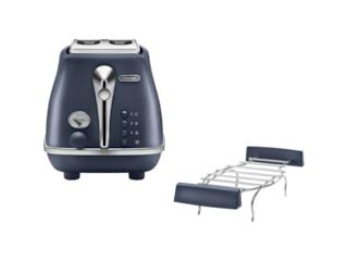 DeLonghi CTOE 2103.BL Icona Elements, Toaster, Ocean Blue -