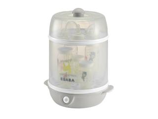 Beaba Evolutive Steril'express 2-in-1 in Grau. Elektrischer Dampfsterilisator. -