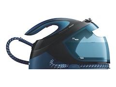 Philips Dampfbügelstation GC8735/80 PerfectCare Performer, SteamGlide Plus Bügelsohle, schwarz-blau