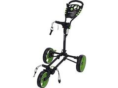 Fastfold Golftrolley  Flat Fold, kompakt faltbar, leicht, Transporttasche dunkelgrau-hellgrün