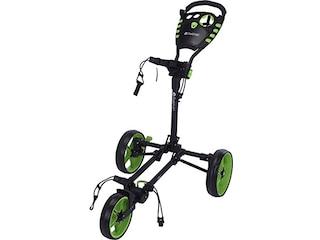 Fastfold Golftrolley  Flat Fold, kompakt faltbar, leicht, Transporttasche dunkelgrau-hellgrün -