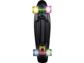 No Rules Skateboard Fun, mit Leuchtrollen SCHWARZ NEON -