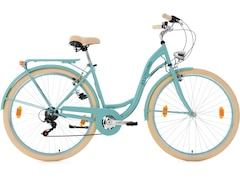 KS Cycling Damen-Cityrad 28 Zoll, Shimano Tourney 6 Gang-Kettenschaltung, türkis, »Balloon«