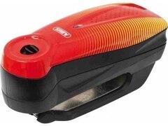 Abus Bremsscheibenschloss 7000 RS 1 sonic red Erschütterungssensor, Inkl. Alarm