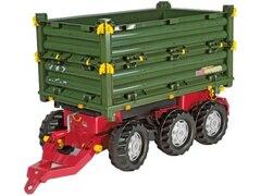 Rolly Toys 125012 Multitrailer grün 3-achsig Traktor Anhänger