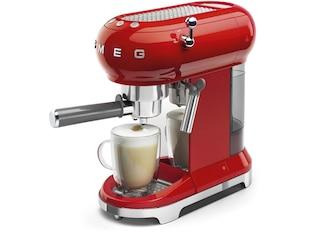 Smeg Espresso-Kaffeemaschine rot (ECF01RDEU) -