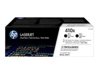 HP CF410XD 2x Original Tonerkassette 410X schwarz 6.500 Seiten M452 M477 -