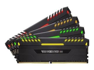 Corsair 64GB (4x16GB) Vengeance RGB DDR4-2666 RAM CL16 (16-18-18-35) Kit -