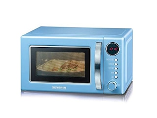Severin MW 7894 Retro-Mikrowelle mit Grillfunktion rot -