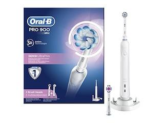 Braun Oral-B PRO 900 Sensi Ultrathin Elektrische Zahnbürste hellblau/weiß -
