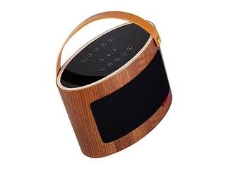 TIBO Vogue 3 - Bluetooth Lautsprecher (Bluetooth, W-LAN Schnittstelle, Walnuß/Schwarz) -