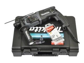 Makita HR2470BX40 Bohrhammer für SDS-PLUS 24mm in schwarz + Bohrer-Set -