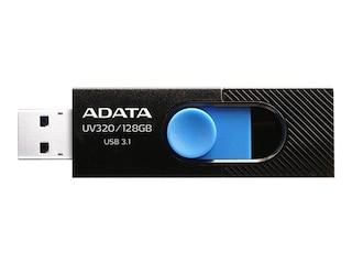 Adata UV320 USB-Flash-Laufwerk 64GB USB 3.1 schwarz/blau (AUV320-64G-RBKBL) -
