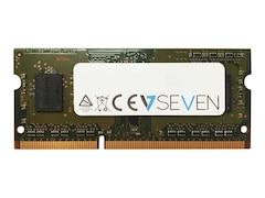 V7 DDR3 2 GB SO DIMM 204-PIN 1333 MHz / PC3-10600 ungepuffert nicht-ECC (V7106002GBS)