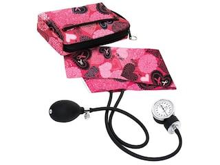 NCD Medical Oberarm-Blutdruckmessgerät mit Federmäppchen Perlen/Hearts Pink (882-RPK) -