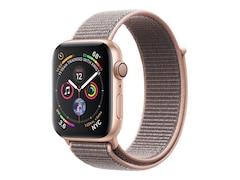 Apple Watch Series 4 GPS, 44 mm Aluminiumgehäuse, Space Grau, mit Sportarmband, Schwarz