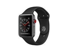 Apple Watch Series3 GPS+Cellular, 42mm Aluminiumgehäuse, SpaceGrau, mit Sportarmband, Schwarz
