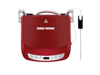 George Foreman 24001-56 Präzisions Fitnessgrill Kontakt- und Sandwichgrill Rot -