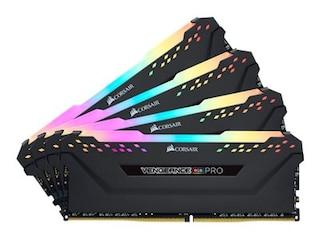 Corsair Vengeance RGB Pro Schwarz 64GB DDR4 Kit 3466 (4x16GB) C16 K4 (CMW64GX4M4C3466C16) -