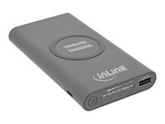 InLine Qi-Plate Powerbank 8000mAh Wireless Charging grau