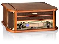 Roadstar HIF-1993D+BT Retro-Stereo Anlage mit Plattenspieler Braun