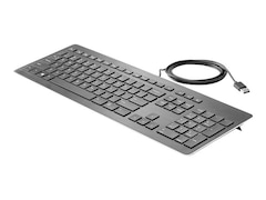 HP USB Premium Tastatur Aluminium Schwarz (Z9N40AA#UUZ)