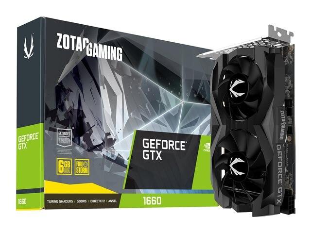 Zotac GeForce GTX 1660 Twin Fan 6GB GDDR5 (ZT-T16600F-10L)