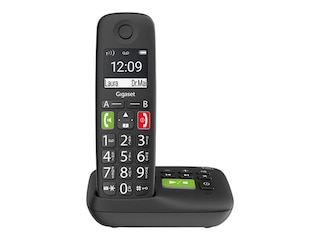 Gigaset E290A Schnurlostelefon mit Anrufbeantworter schwarz -