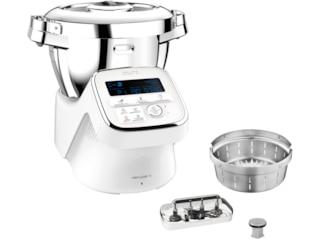 Krups HP60A1 i-Prep&Cook XL Küchenmaschine mit Kochfunktion Weiß/Edelstahl -