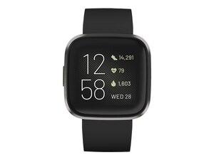 FB507BKBK Versa 2 (NFC) Armband: Silikon, S,L, Farbe Black/Carbon