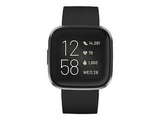 Fitbit FB507BKBK Versa 2 (NFC) Armband: Silikon, S,L, Farbe Black/Carbon -