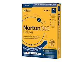 Symantec Norton 360 Deluxe 2020 [5 Geräte - 1 Jahr - Abo - jederzeit kündbar] -