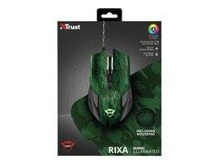 Trust Gaming GXT 781 Rixa Camo Gaming Maus und Mauspad, kabelgebunden