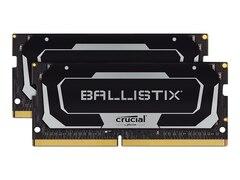Crucial Ballistix SODIMM Schwarz 16GB Kit (2x8GB) DDR4-2666 CL16 Gaming-Arbeitsspeicher (BL2K8G26C16S4B)