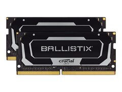 Crucial Ballistix SODIMM Schwarz 16GB Kit (2x8GB) DDR4-3200 CL16 Gaming-Arbeitsspeicher (BL2K8G32C16S4B)