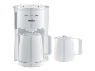 Severin KA 9256 Kaffeemaschine mit 2 Thermokannen Weiß -