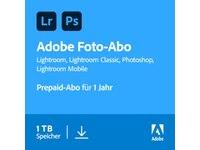 Adobe Creative Cloud Photography Plan 1TB 1 Jahr Abo  ESD