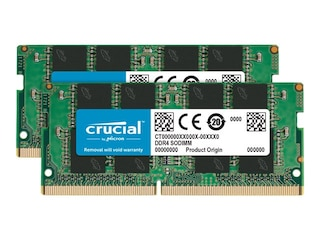 Crucial 32GB (2x16GB) DDR4-2666 CL 19 SO-DIMM RAM Notebook Speicher Kit (CT2K16G4SFRA266) -